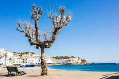 Coast line of spanish village Royalty Free Stock Photo