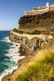 Coast line view in the gran canarias Royalty Free Stock Photography