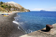 Coast of Lipari, Italy Royalty Free Stock Photos