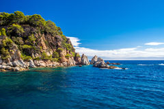 Coast of Lloret de Mar. Spain Royalty Free Stock Photos