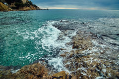 Coast of Lloret de Mar Royalty Free Stock Images