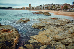Coast of Lloret de Mar Stock Photography