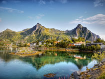 Coast Lofoten Islands, Norway Stock Photos