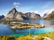 Coast of Lofoten Islands Stock Image