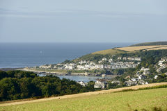 Coast at Looe, Cornwall Stock Image
