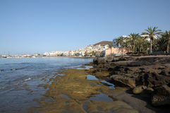 Coast in Los Cristianos, Tenerife Spain Royalty Free Stock Images