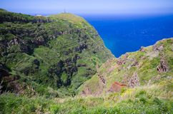 Coast of Madeira island, Ponta do Pargo, Portugal Stock Photos