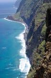 Coast of Madeira island, Ponta do Pargo, Portugal Royalty Free Stock Photos