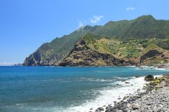 The coast of Madeira, Portugal Royalty Free Stock Photography