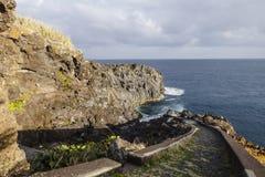 Coast in Madeira stock photo