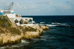 Coast in Mahdia, Tunisia. Cofee bar at the coast in Mahdia, Tunisia Stock Image