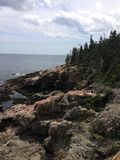 Coast of Maine. The beautiful coast of Bar Harbor, Maine Royalty Free Stock Photos