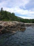 Coast of Maine. The beautiful coast of Bar Harbor, Maine Stock Image
