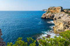 Coast of Majorca (spain) Royalty Free Stock Photography