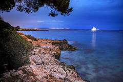 The coast of Mallorca. Island, the Balearic Islands in the Mediterranean Sea, Spain Royalty Free Stock Images