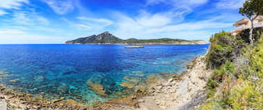 The coast of Mallorca. Island near Sant Elm, the Balearic Islands in the Mediterranean Sea, Spain Stock Photography