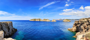 The coast of Mallorca. Island near Sant Elm, the Balearic Islands in the Mediterranean Sea, Spain Royalty Free Stock Photo
