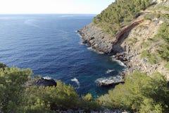 Coast of mallorca. Natural coast landscape of balearic island mallorca Royalty Free Stock Photos