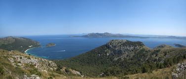 The coast of Mallorca. Panoramic view of the coast of Mallorca, Spain Stock Images