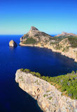 Coast in Mallorca. Coast with the Rocks and the blue water around. Everything in Mallorca in Spain stock photo