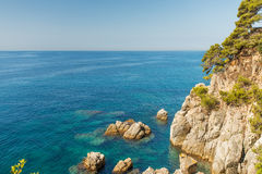 Coast of Mallorca Spain. Coast of Mallorca, Balearic Islands Stock Photos