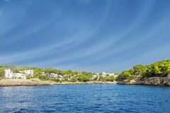 Coast of Mallorca. On a sunny day Stock Images