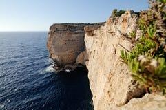 Coast of Malta. The amazing cliffs of Malta Stock Images