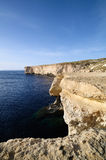 Coast of Malta. The amazing cliffs of Malta Stock Image