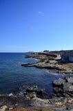 The dream of a unique sea. The sea and the cost of malta Stock Image