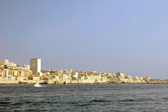 Coast of Marseille. With houses at the Mediterranean Sea Royalty Free Stock Images