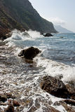 Coast of mediterranean sea. View on coastline of Mallorca island Royalty Free Stock Image