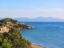 Coast of Mediterranean sea Royalty Free Stock Image