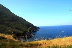 Coast of Mediterranean sea stock photography