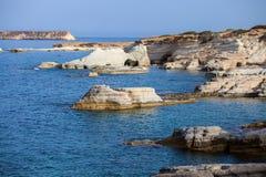 Coast of Mediterranean sea in Cyprus Royalty Free Stock Image