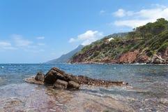 The coast of Mediterranean sea Stock Image