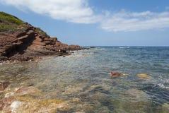 The coast of Mediterranean sea Stock Photo