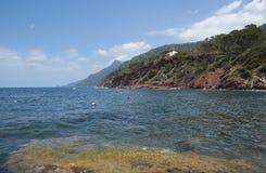 The coast of Mediterranean sea Stock Photography