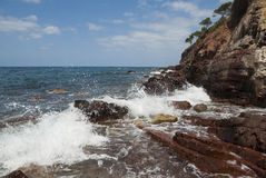 The coast of Mediterranean sea Stock Photos