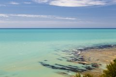 Coast of mediterranean sea in Italy royalty free stock photos