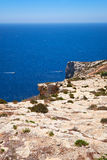 Coast of Mediterranean sea on south part of Malta island Royalty Free Stock Photography