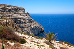 Coast of Mediterranean sea on south part of Malta island Royalty Free Stock Photo