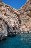 Coast of Mediterranean sea on south part of Malta island Stock Images