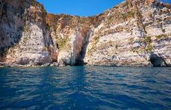 Coast of Mediterranean sea on south part of Malta island Royalty Free Stock Photos