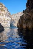 Coast of Mediterranean sea on south part of Malta island Royalty Free Stock Image