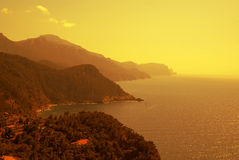 The coast of Mediterranean sea Royalty Free Stock Photography