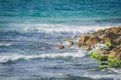 Coast in the Mediterranean Sea, Tel Aviv, Israel. royalty free stock image