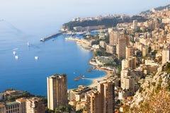 The coast of Monaco stock photo