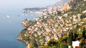 The coast of Monaco stock footage