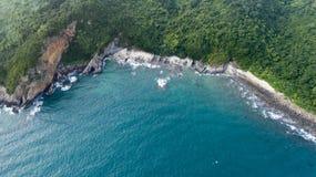Monkey island in Vietnam. The coast of the monkey island in Vietnam Stock Photos
