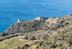The coast of Monte Argentario, Tuscany Stock Photography